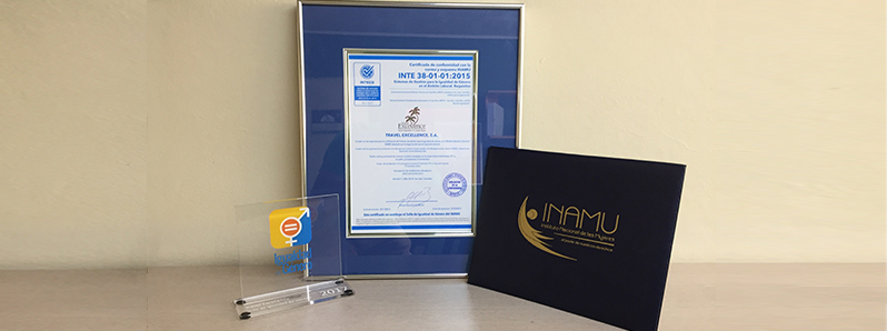 Travel Excellence became today the first company to achieve the Gender Equality Mark in Costa Rica